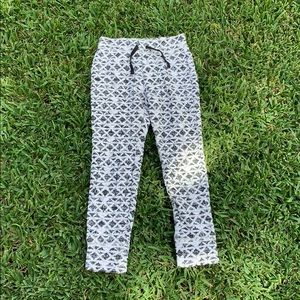 Girls black and white joggers